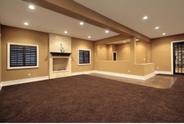Pictures of basement located in Greeley, Electrical installed lights in basement with  extra electrical outlets.